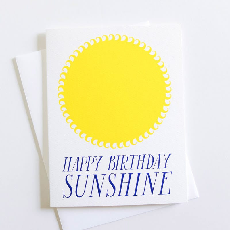 """Happy Birthday"" Sunshine Card"