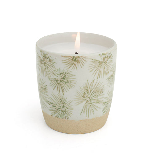 Palm Print Green Candle