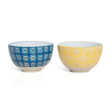 Load image into Gallery viewer, Small Blue Yellow Bowls