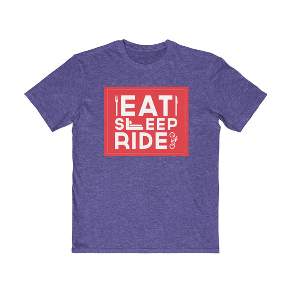 Eat Sleep Ride Mens Semi Slim Fit T-Shirt Purple
