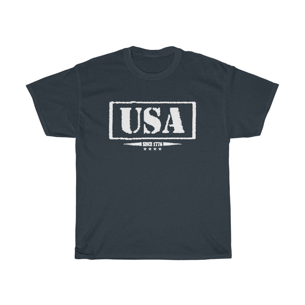 USA Since 1776 Unisex Classic Fit T-Shirt (Dark) Navy