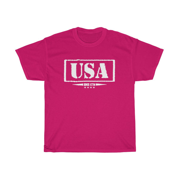 USA Since 1776 Unisex Classic Fit T-Shirt (Dark) Pink