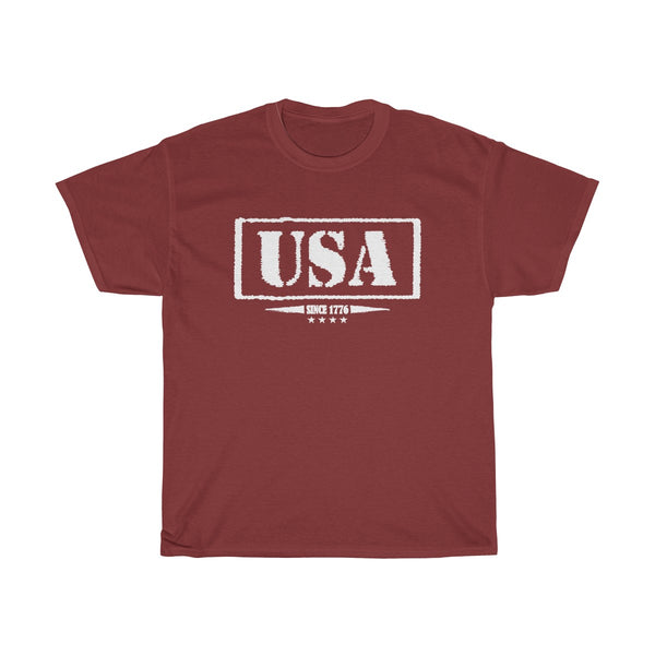 USA Since 1776 Unisex Classic Fit T-Shirt (Dark) Red