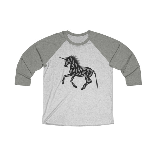 Feather Unicorn Unisex Raglan T-Shirt