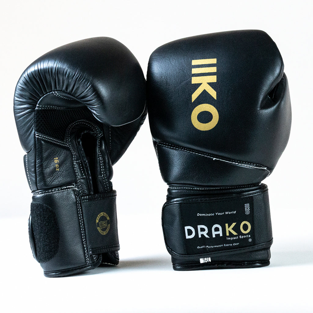 DRAKO ELITE GOLD BOXING GLOVES