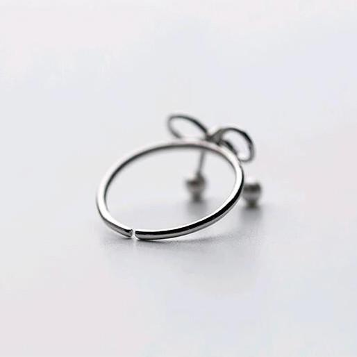 Sterling Silver Bowknot Ring - 925 Real Silver Ring - Classic Silver Ring Lux & Rose