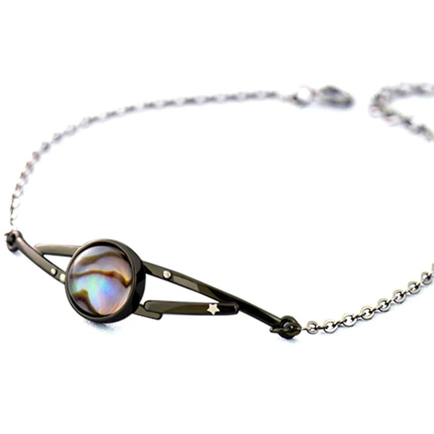 Sterling Silver Milky Stars Abalone Shell Bracelet - 925 Real Silver Bracelet - Classic Silver Bracelet Lux & Rose