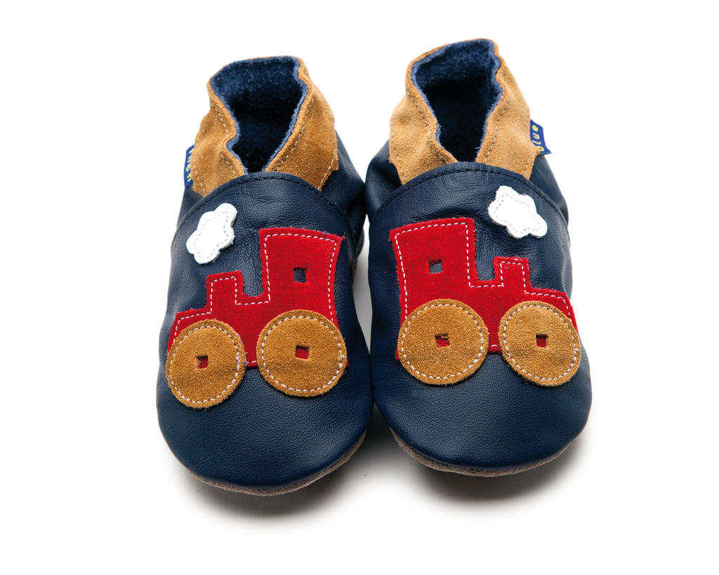Toot Train Shoes - Small, Med, Large, XL: Inch Blue