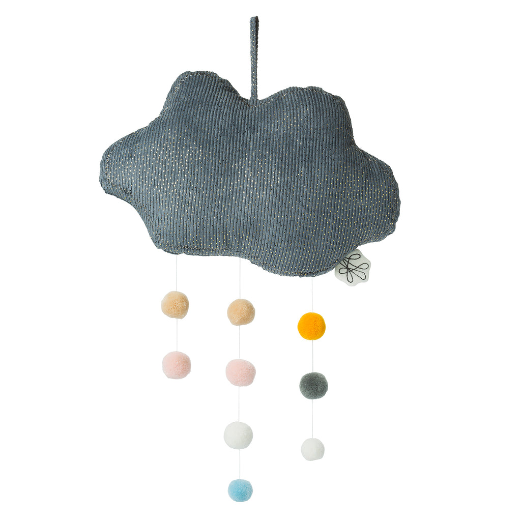Cloud mobile with pompoms