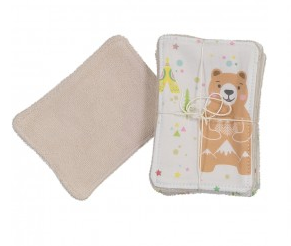 Fox & Bear Face Cloth