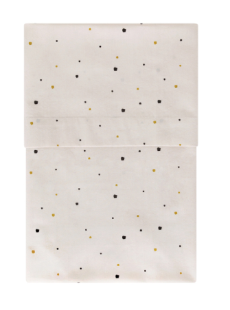 Spot Print Cot Sheet- sand/black: home by Door
