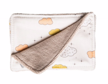 Cloud Print Washable Face Wipes