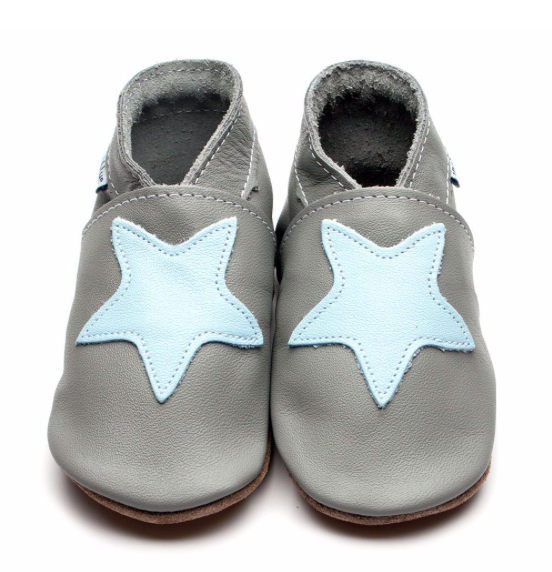 Starry Grey/Baby Blue Shoes - Large & XL: Inch Blue