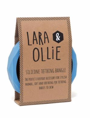 Lara & Ollie Teething Bangle - Cornflower