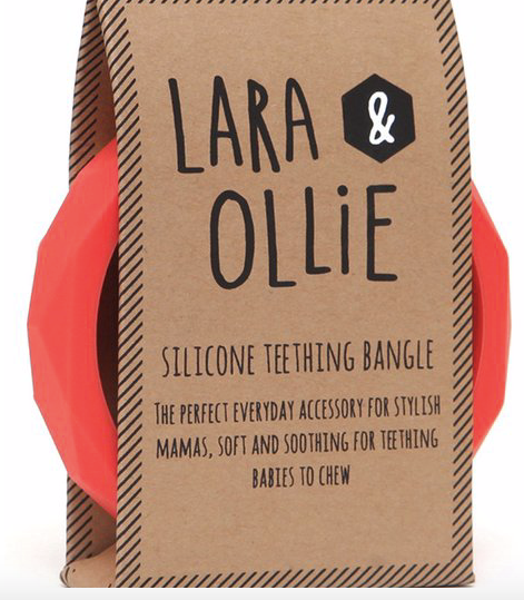 Laura & Ollie Teething Bangle - Coral