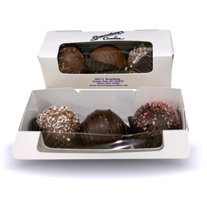 VALENTINE'S DAY 3 PIECE BOX OF TRUFFLES