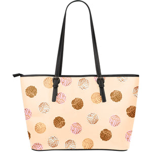 Concha Pattern Large Leather Tote Bag