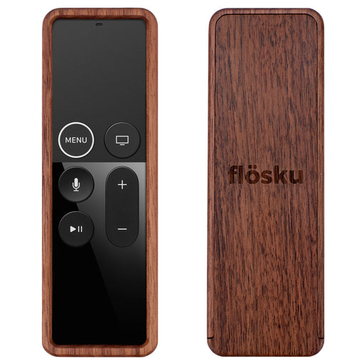 Flosku Remote Case for Apple TV, Walnut