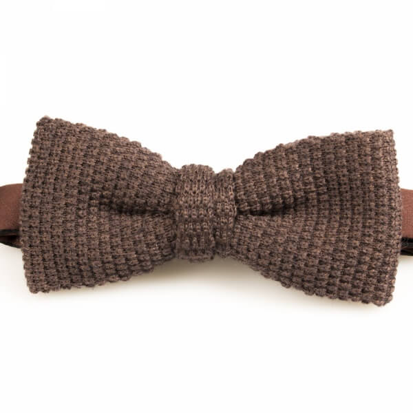 Brown Knitted Wool Bowtie | Blick