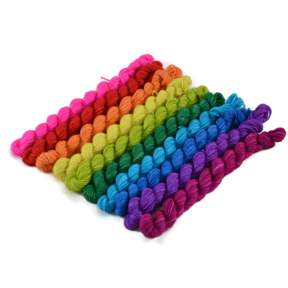 10 Micro Skein Percival Bright Rainbow Set