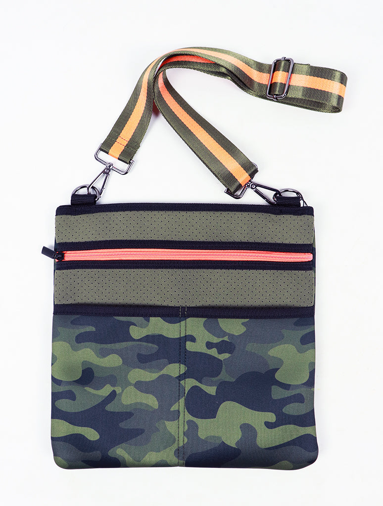 Haute Shore Peyton Crossbody Bag in Retro Green Camo
