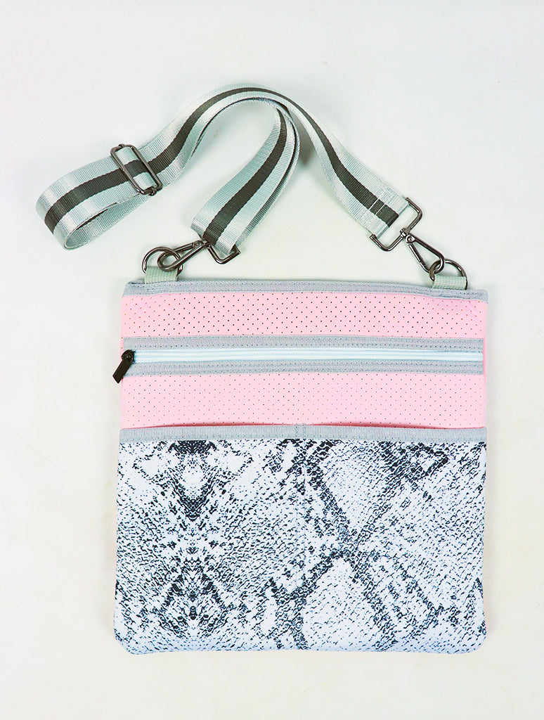 Haute Shore Peyton Crossbody Bag in Whim Blush Snakeskin