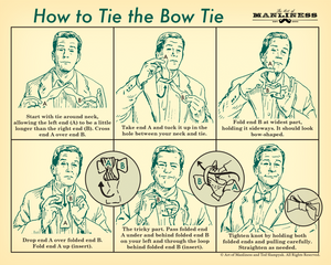 How to Tie the Bow Tie Poster [PRINT ON DEMAND]