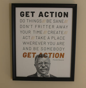 "Theodore Roosevelt ""Get Action"" Print"