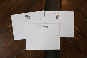 Men's Stationery: Deer, Moose, Rifle