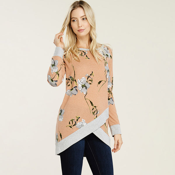 Carly Wrap Top Peach