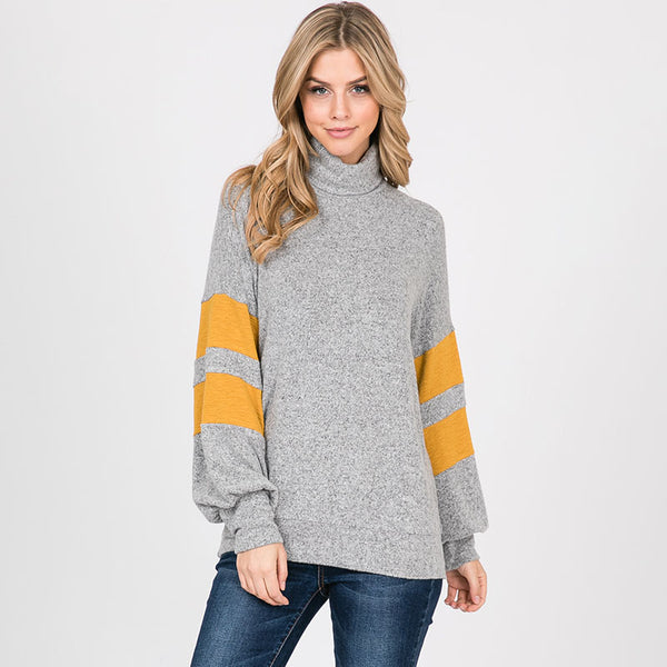 Bright Side Stripe Jumper Silver Grey
