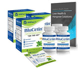 BluCetin Liver Health & Immune Support Formula – Combo Health Pack (98%-Pure DHM, Milk Thistle, Electrolytes, Antioxidants, Nutrients) w/New 'Quick-Melt' Technology- 100% Money Back Guarantee
