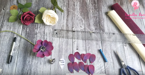 Diy How To Make Anemone Paper Flowers From Crepe Paper Paper Craft