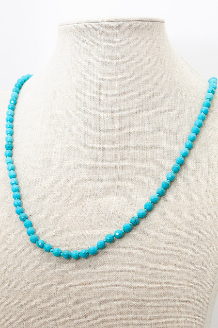 Howlite Turquoise Faceted Necklace