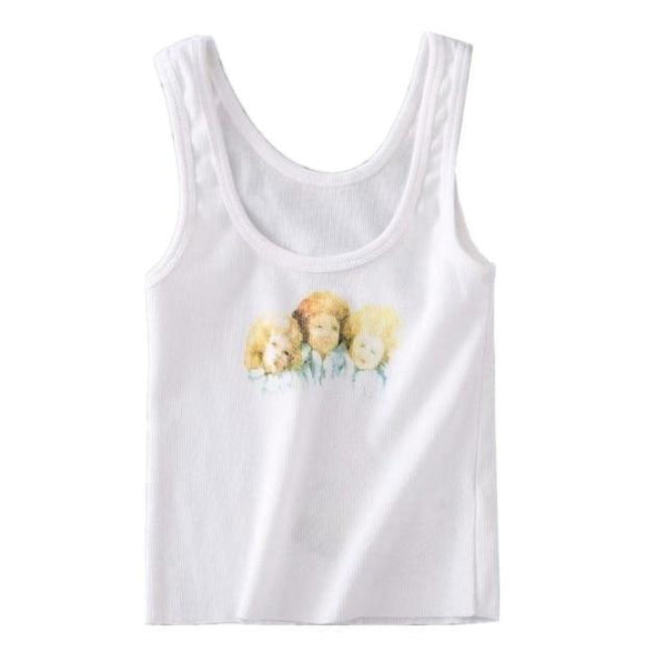 Vintage Faded Cherub Tank Top