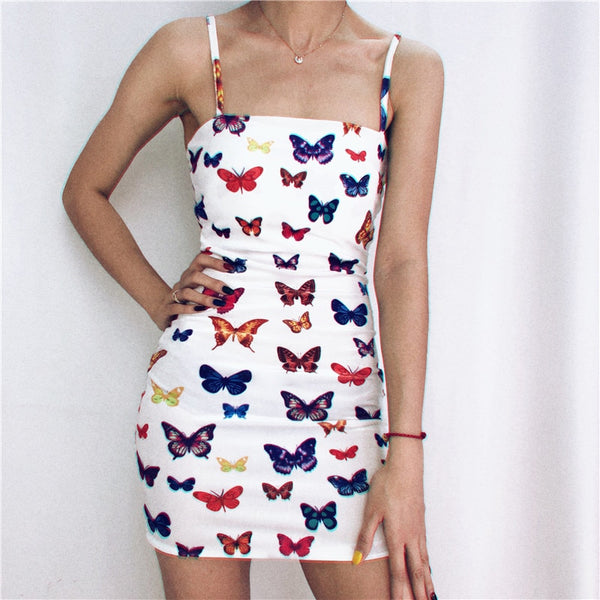 Colorful butterfly dress