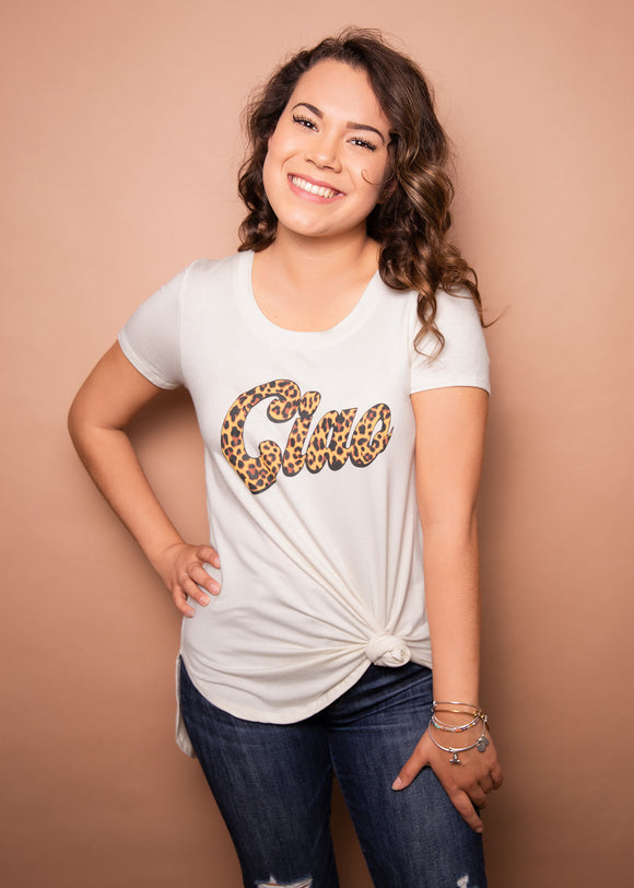 Paisley Raye Graphic Tee Ciao, Radiant Rebel Boutique