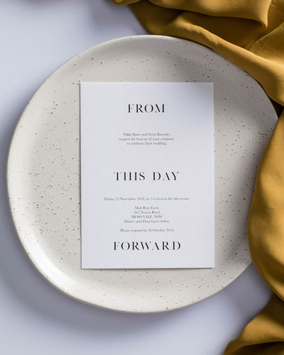 From this Day Forward Menu