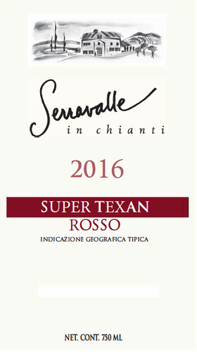 Pre-Order 2016 Super Texan Rosso (6 Bottle Case)