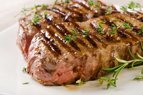 Rosemary Garlic Steak with Onion