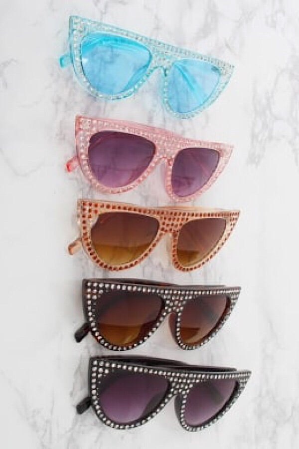 Rhinestone Cat-Eye Sunnies
