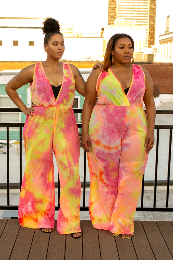 Pink Lemonade Tie Dye Jumpsuit