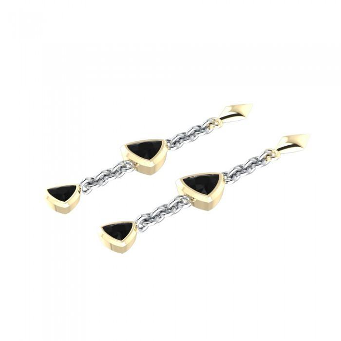Blaque Hanging Triangles Earrings MER397