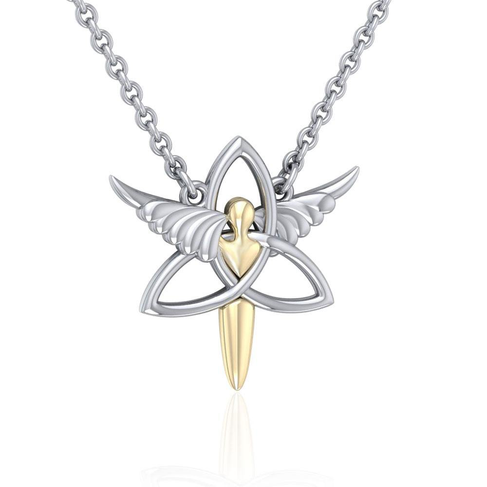 Celtic Trinity Angel Necklace