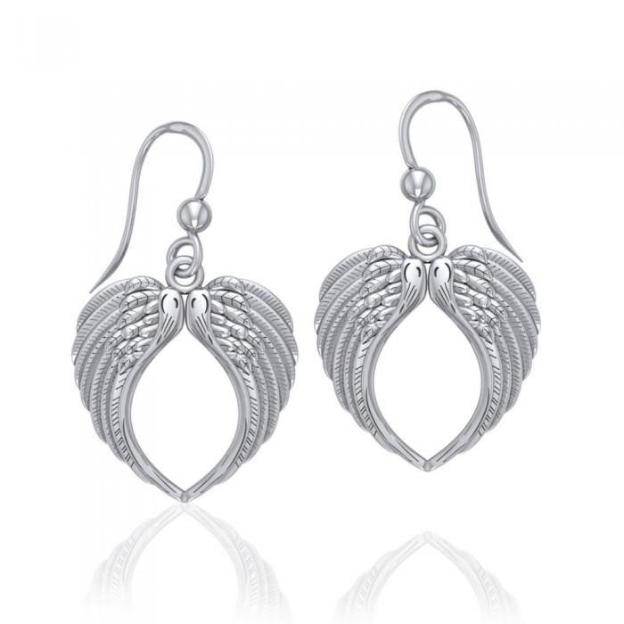 Angel Wing Sterling Silver Earrings
