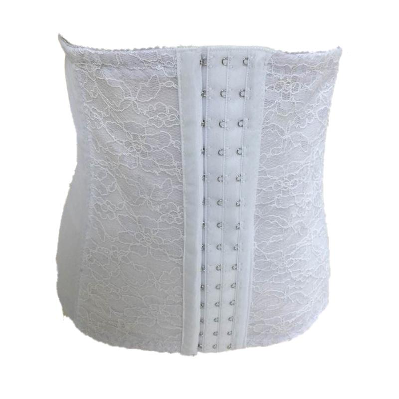 White Red sexy lace beam waist breathable corset