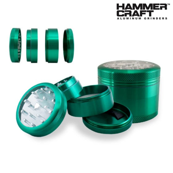Clear Top CNC 4 Piece Grinder by HammerCraft