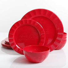 Load image into Gallery viewer, Coca Cola 12 Pcs. Red Durable Melamine Dinner set For 4 Person