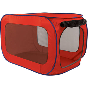 "Red Pop Open Pet Dog Kennel - Pop up 33 1/2"" X 19"" Pet Dog Pen"