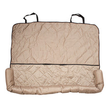 Load image into Gallery viewer, Quilted Comfy Dog Car Seat Covers - Light Brown Car Seat Cover for Dogs